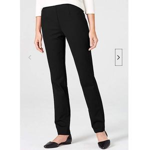 J.Jill Barely Ponte Slim Fit Black Pants